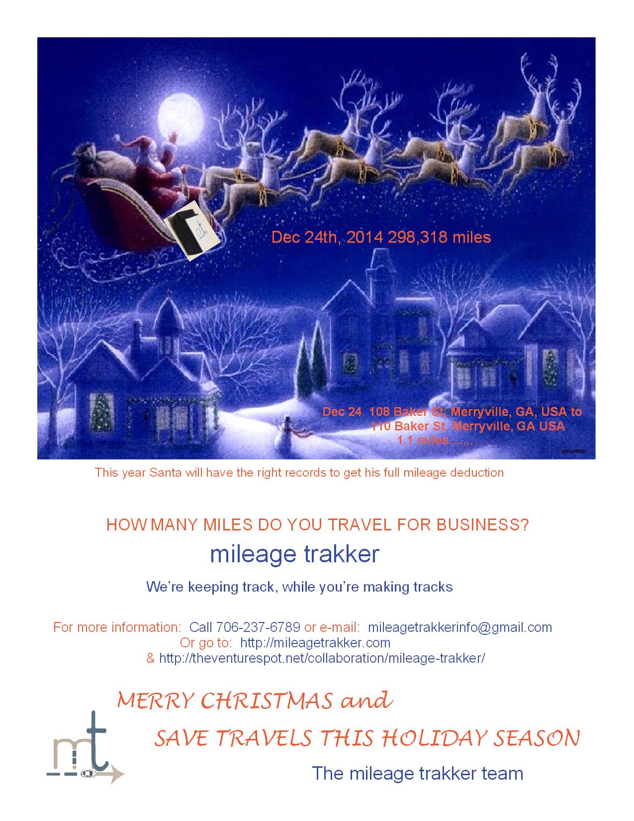 2014 Mileage Trakker Christmas Message
